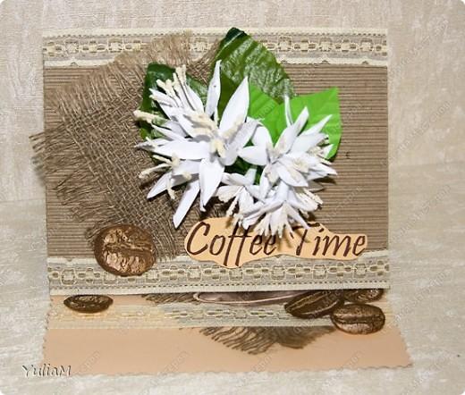 Когда-то я делала веточку цветов кофе. Очень она мне понравилась, поэтому сегодня предлагаю вашему вниманию мастер-класс по ее изготовлению и применению)))) фото 21