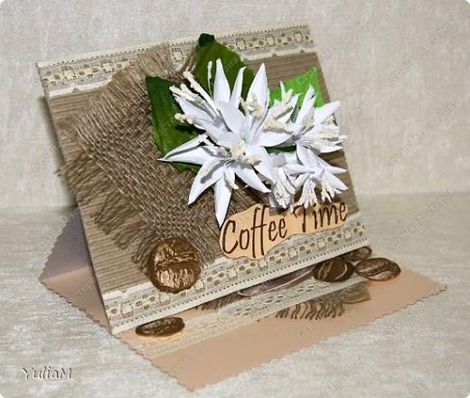 Когда-то я делала веточку цветов кофе. Очень она мне понравилась, поэтому сегодня предлагаю вашему вниманию мастер-класс по ее изготовлению и применению)))) фото 1