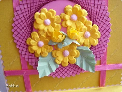 Очарована открыточками Оли   http://stranamasterov.ru/node/175370    - стоечки, пюпитр. Да и цветочки надо пристраивать. Вот получилась такая открытка. фото 1