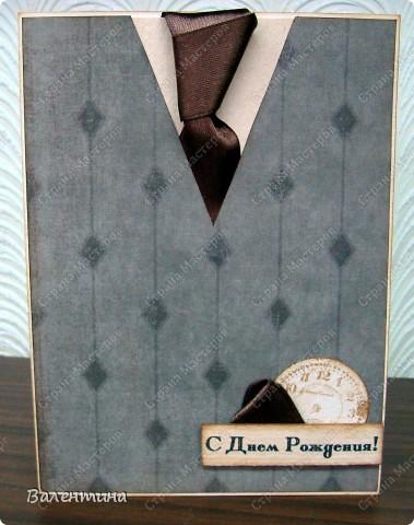 Этот костюм сделала на заказ на юбилей. Пиджак, жилетка, рубашка, галстук, кармашки - все как полагается))) фото 3