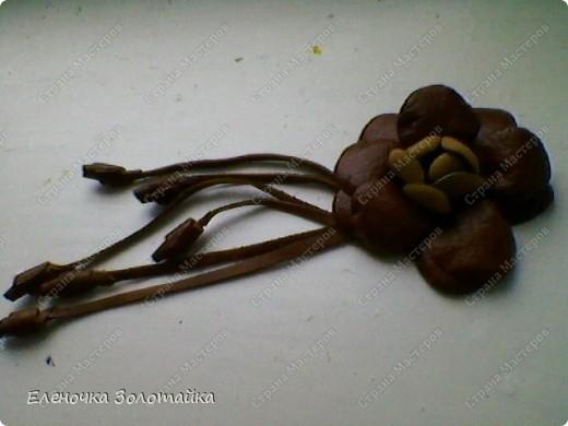 Цветы из кожи фото 5
