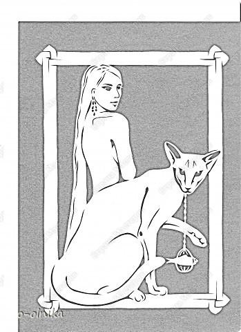 Картина панно рисунок Вырезание КОШКИ вырезалка Бумага фото 2.