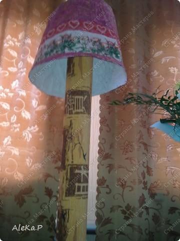 Абажур: папье-маше, декупаж, акриловые краски, лак  фото 7