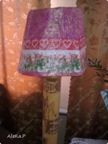 Абажур: папье-маше, декупаж, акриловые краски, лак  фото 5