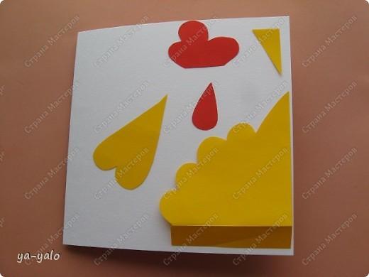"""У меня снова получилась детская и ОЧЕНЬ ПРОСТАЯ!!! открытка. За основу взята форма открытки-стойки """"УГОЛОК"""". Я уже делала две открытки с такой основой фото 19"""
