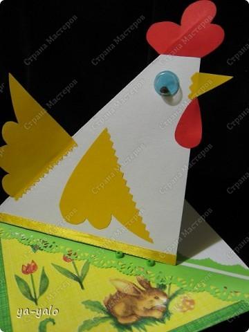 """У меня снова получилась детская и ОЧЕНЬ ПРОСТАЯ!!! открытка. За основу взята форма открытки-стойки """"УГОЛОК"""". Я уже делала две открытки с такой основой фото 4"""