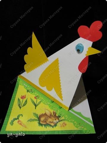 """У меня снова получилась детская и ОЧЕНЬ ПРОСТАЯ!!! открытка. За основу взята форма открытки-стойки """"УГОЛОК"""". Я уже делала две открытки с такой основой фото 7"""