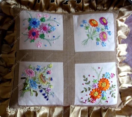"""Общий вид подушки """"Цветочная"""" фото 1"""