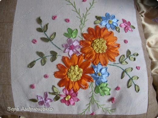 """Общий вид подушки """"Цветочная"""" фото 5"""