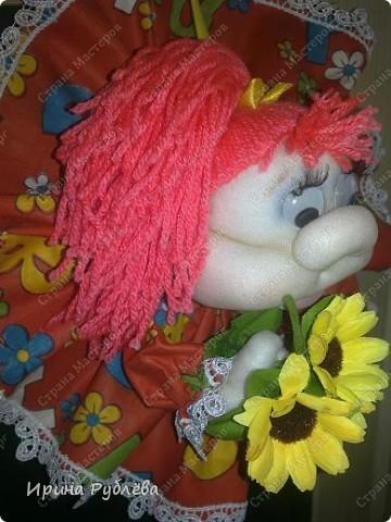 Это Нюрка. Текстильно-скульптурная техника.  фото 7