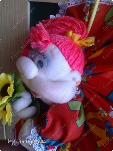 Это Нюрка. Текстильно-скульптурная техника.  фото 8