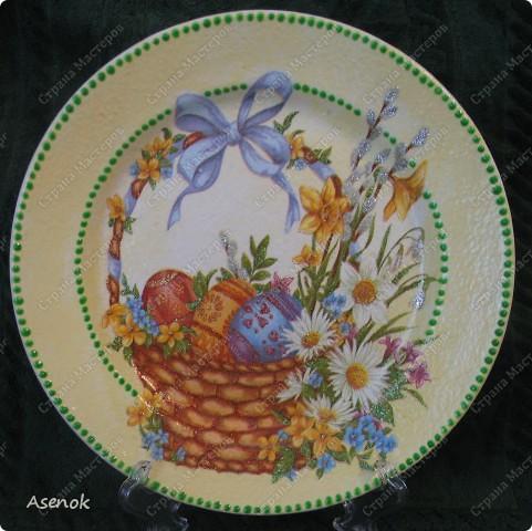 Увидев тарелочку которую я делала для свекрови народ сразу назаказывал у меня 5 тарелок :) Это фото со вспышкой. фото 5
