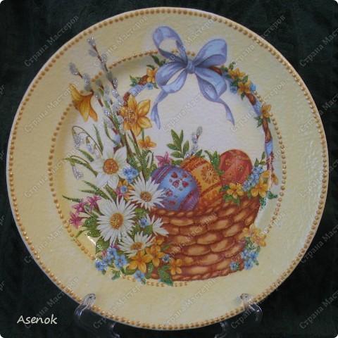 Увидев тарелочку которую я делала для свекрови народ сразу назаказывал у меня 5 тарелок :) Это фото со вспышкой. фото 7