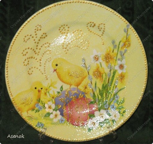 Увидев тарелочку которую я делала для свекрови народ сразу назаказывал у меня 5 тарелок :) Это фото со вспышкой. фото 3
