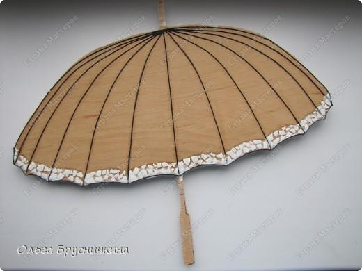 Сестре понадобилась ключница.Я,как обычно,люблю чтобы форма у ключницы была необычной.Например- зонт. фото 8