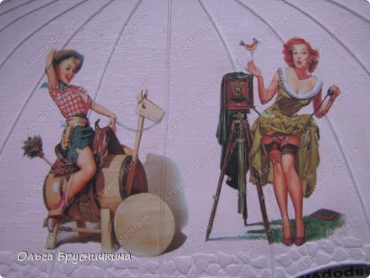 Сестре понадобилась ключница.Я,как обычно,люблю чтобы форма у ключницы была необычной.Например- зонт. фото 14