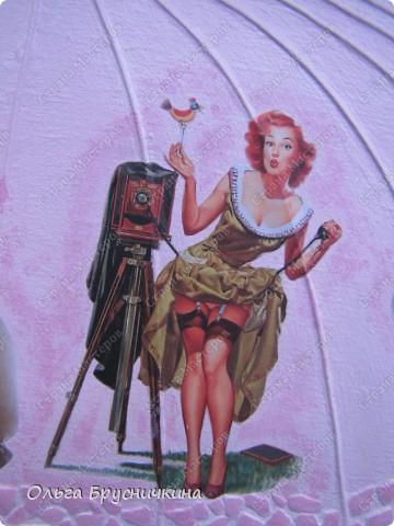 Сестре понадобилась ключница.Я,как обычно,люблю чтобы форма у ключницы была необычной.Например- зонт. фото 15