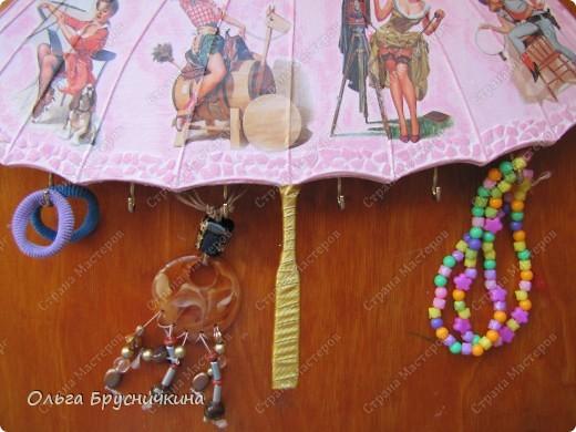 Сестре понадобилась ключница.Я,как обычно,люблю чтобы форма у ключницы была необычной.Например- зонт. фото 21