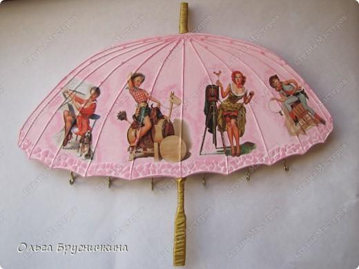 Сестре понадобилась ключница.Я,как обычно,люблю чтобы форма у ключницы была необычной.Например- зонт. фото 1