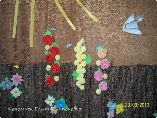 Оформляли штору на сцене.  фото 1