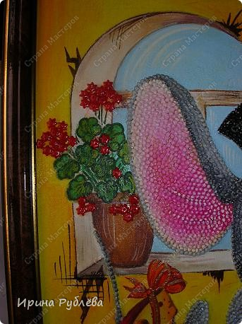Это орхидеи из пшена, а трава нарисована. Всё рисуется и раскрашивается гуашью. фото 9
