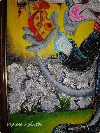 Это орхидеи из пшена, а трава нарисована. Всё рисуется и раскрашивается гуашью. фото 11