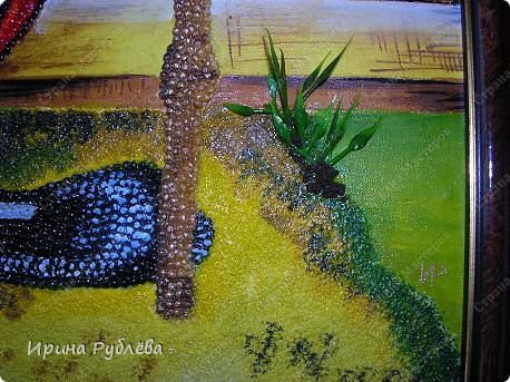 Это орхидеи из пшена, а трава нарисована. Всё рисуется и раскрашивается гуашью. фото 12