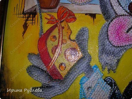 Это орхидеи из пшена, а трава нарисована. Всё рисуется и раскрашивается гуашью. фото 14
