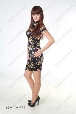 Платье сшито из стрейч-атласса. Моя работа фото 1