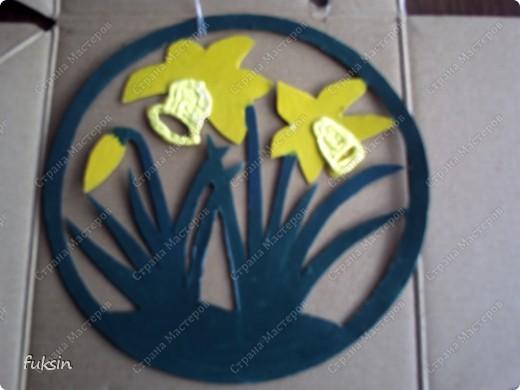 это украшение на окно или дверь,поделка с детьми из бросового материала фото 7