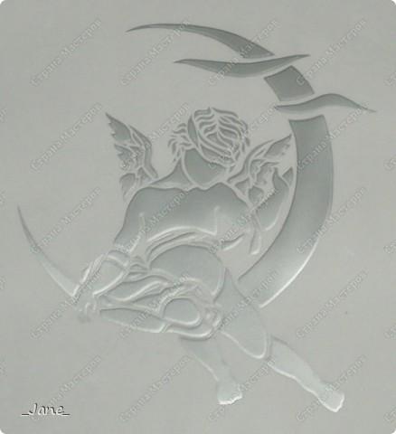 Лунный ангел (вытынанка)