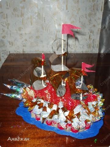 Первая работа в кораблестроительстве))) По волнам, под парусами поплыл кораблик к своему хозяину, у которого завтра День Варения. фото 3