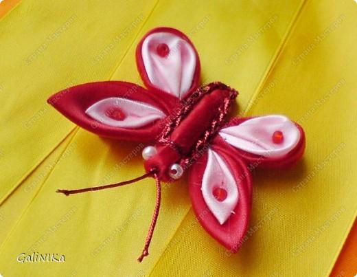 Всем! Доброго здравия!    Сегодня  расскажу о том, как я делаю бабочек, используя ленточки.    Для начала о бабочках из капроновых лент (давно обещанный мастер-класс тем, кому понравилась моя первая бабочка).   фото 11