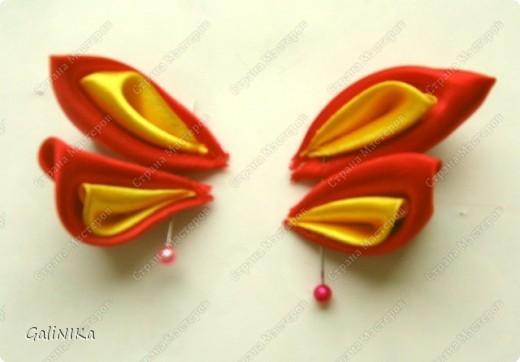 Всем! Доброго здравия!    Сегодня  расскажу о том, как я делаю бабочек, используя ленточки.    Для начала о бабочках из капроновых лент (давно обещанный мастер-класс тем, кому понравилась моя первая бабочка).   фото 13