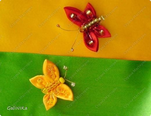 Всем! Доброго здравия!    Сегодня  расскажу о том, как я делаю бабочек, используя ленточки.    Для начала о бабочках из капроновых лент (давно обещанный мастер-класс тем, кому понравилась моя первая бабочка).   фото 20