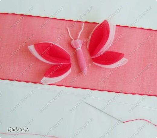 Всем! Доброго здравия!    Сегодня  расскажу о том, как я делаю бабочек, используя ленточки.    Для начала о бабочках из капроновых лент (давно обещанный мастер-класс тем, кому понравилась моя первая бабочка).   фото 7