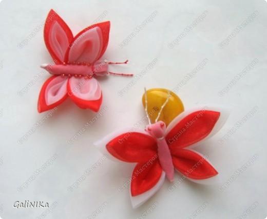 Всем! Доброго здравия!    Сегодня  расскажу о том, как я делаю бабочек, используя ленточки.    Для начала о бабочках из капроновых лент (давно обещанный мастер-класс тем, кому понравилась моя первая бабочка).   фото 9