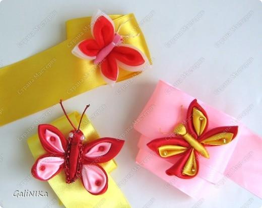 Всем! Доброго здравия!    Сегодня  расскажу о том, как я делаю бабочек, используя ленточки.    Для начала о бабочках из капроновых лент (давно обещанный мастер-класс тем, кому понравилась моя первая бабочка).   фото 1