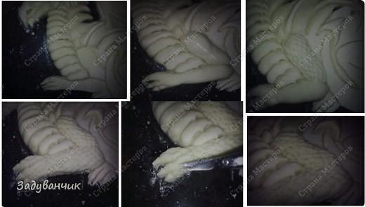Дракон из солёного теста. Фото много, поэтому разделила весь процесс на 2 части, сначала лепка)) фото 15