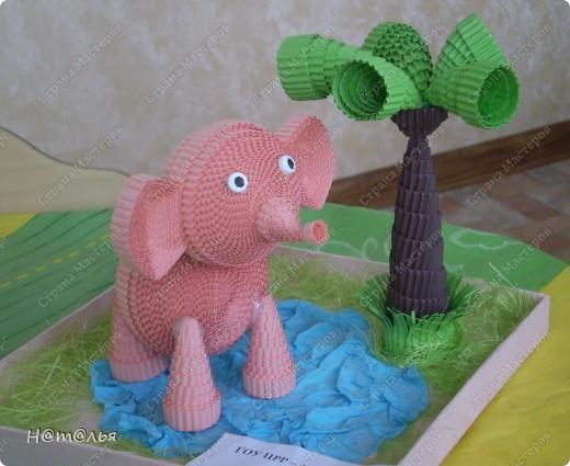 Эту поделку мы с дочкой делали еще зимой. Вот этот слоник - http://stranamasterov.ru/node/107104?c=favorite - понравился очень многим, и конечно же мы тоже не могли устоять перед ним))) фото 1