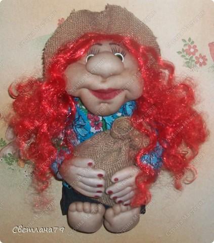 Огромное спасибо Оксане Третьяковой за МК домовых, Ликме и Рawy за МК личика и всего остального. По их МК я научилась шить кукол. фото 6