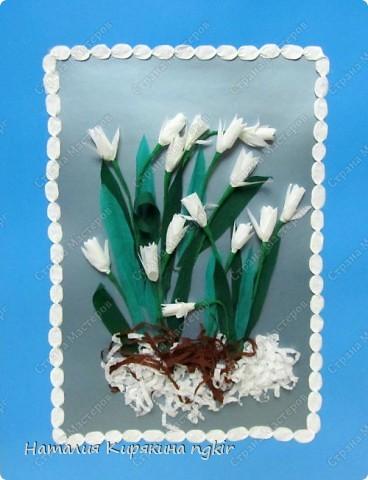 """Подснежники выполнены 2-классниками по замечательной книге Т. Н. Просняковой """"Цветы"""" фото 1"""