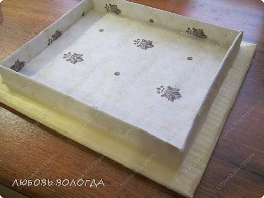 А теперь коробочка http://stranamasterov.ru/node/174244 с отделкой.Стоит на полочке, для нее предназначенной. фото 11