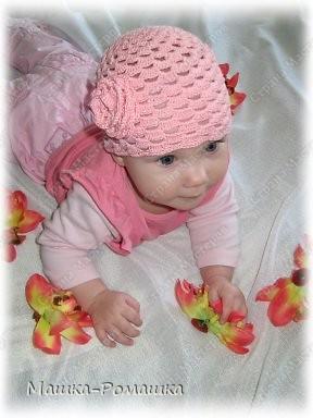 Гардероб Вязание крючком Летняя Шапочка по М К от Голубки с розочкой= Пряжа