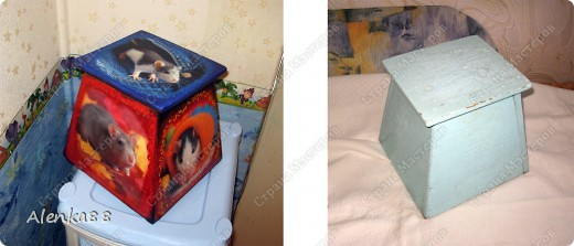 А так в старом ящике для цветка поселились мыши ... =) фото 1