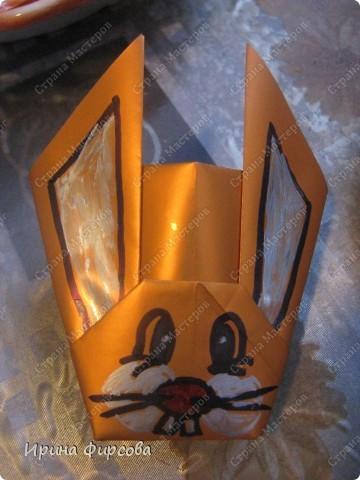 Зайчики - стаканчики к Пасхе фото 4