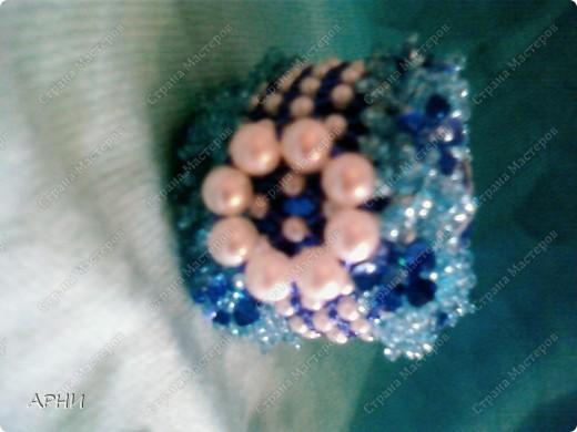 Яйцо бисерное под гжель фото 4