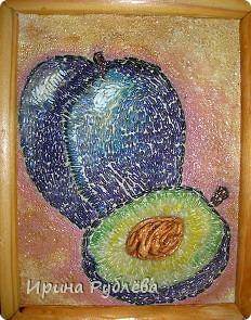 Это орхидеи из пшена, а трава нарисована. Всё рисуется и раскрашивается гуашью. фото 19