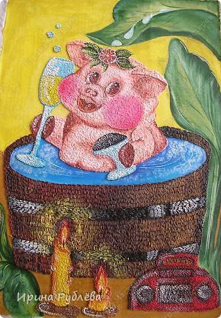 Это орхидеи из пшена, а трава нарисована. Всё рисуется и раскрашивается гуашью. фото 41