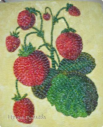 Это орхидеи из пшена, а трава нарисована. Всё рисуется и раскрашивается гуашью. фото 22